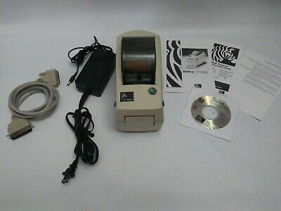Zebra Lp 2824 Thermal Bar Code Shipping Label Printer Includes Cables Working