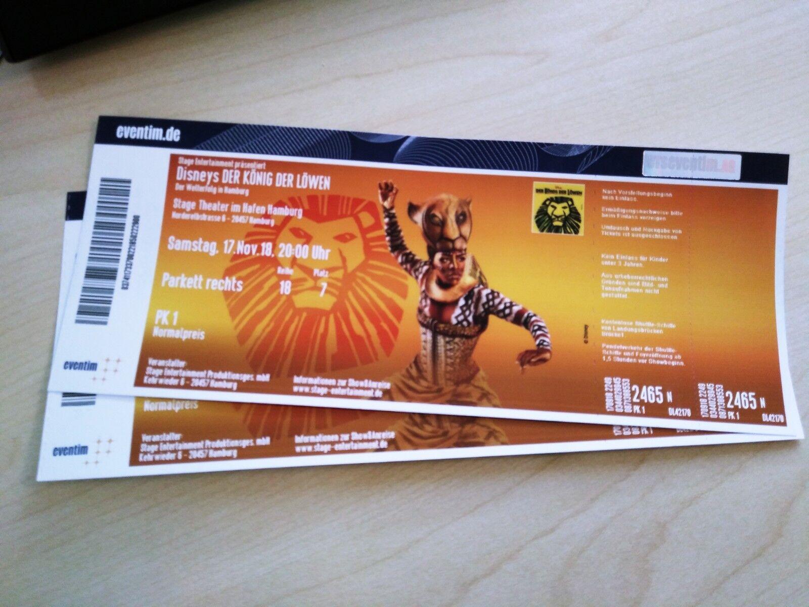 2 x Ticket Musical König der Löwen