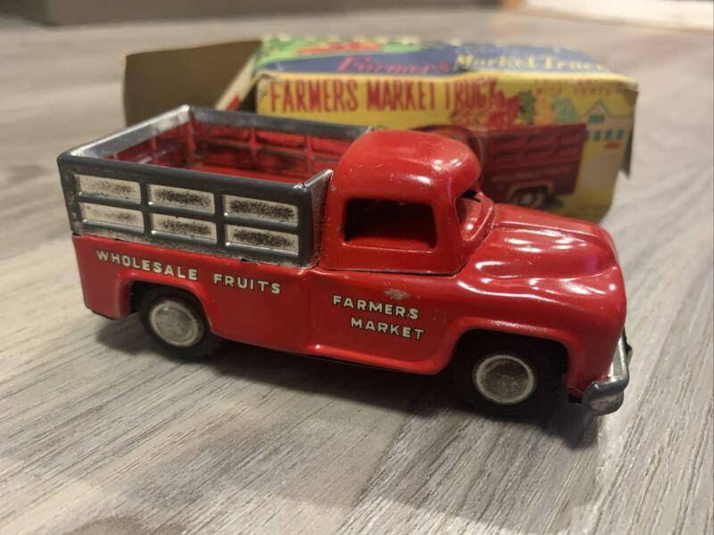 Farmers Market 1950s LineMar Japan Marx Toy Friction Litho Line Mar Truck