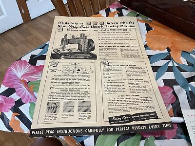 Instructions Betsy Ross Electric Sewing Machine Vintages