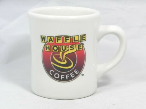 WAFFLE HOUSE COFFEE CUP Mug 8 oz Heavy Thick Diner Style Great Logo NICE!!
