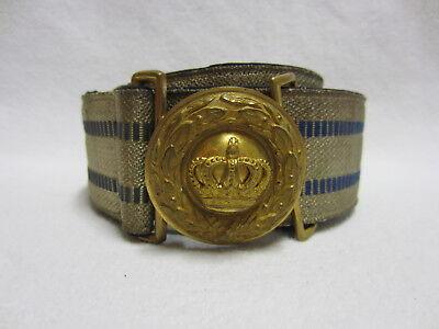 BAYERN - Offiziers-Feldbinde - M1897 -Feldbindenschloß -BAYERN-KRONE -Vergoldet