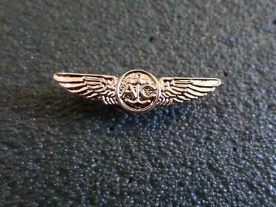 "U.S MILITARY NAVY MINIATURE GOLD AIR CREW WINGS 1 1/4"" INCHES WIDE HAT PIN LAPEL"