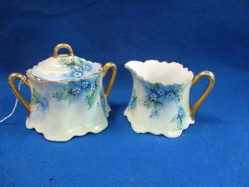 BAVARIA FORGET ME NOTS CREAM PITCHER AND SUGAR BOWL