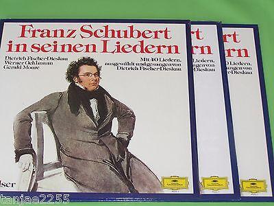 Franz Schubert in seinen Liedern - Fischer Dieskau Moore DGG Sealed 3 LP Schuber