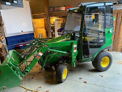 John Deere 1025r Tractor Loader Tektite Cab Heat Wipers Lighting 83 Hours -sweet