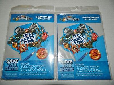 SKYLANDERS Lot of 2 Packages 16 TOTAL Birthday Party INVITATIONS](Skylanders Invitations)