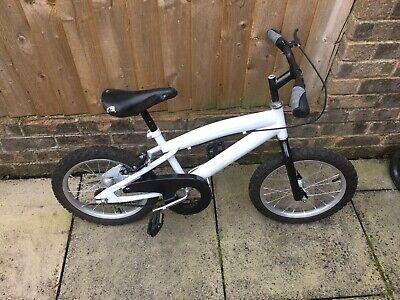 """Kids16"""" white and black bike"""