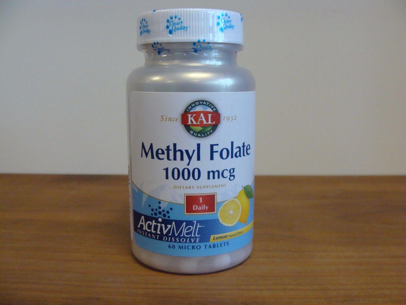 Methyl Folate 1000 mcg  KAL 60 Micro Tablets 11/2018