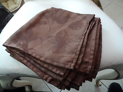 -  Set of 7 Chocolate brown colored dinner napkins 16