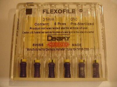 Densply Dental Endodontic Flexofile 6pkg  31mm Iso 010  Ref 672003