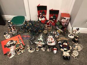 Christmas Decorations - snowman lot