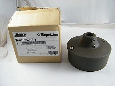 New Stonco Exceline Wall Ballast Box 34 Stem Wrinkled Bronze Color W3wp042hf-8