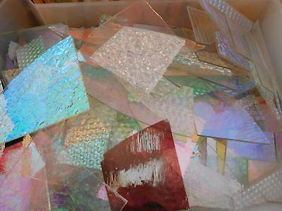 Cbs Dichroic Glass Scrap 4 Oz Jewelers Pack  90Coe On Clear