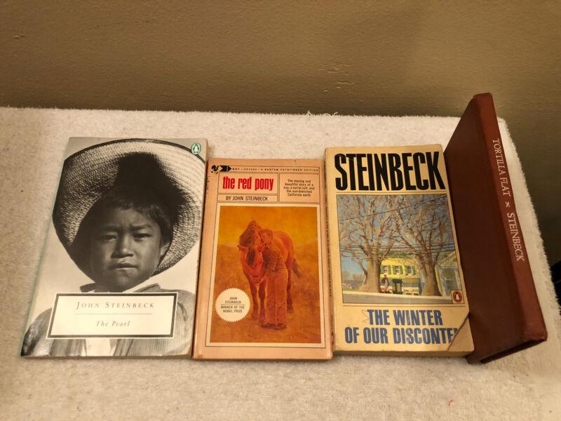 Lot Of 4 John Steinbeck Books All Paperbacks