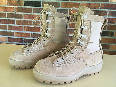 McRae Flight & Combat Crew Boots, Size: 4W, Tan, NSN:8430-01-593-5801,    V6(10)