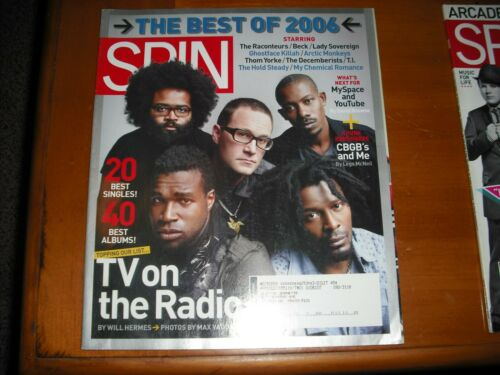 SPIN MAGAZINE JANUARY 2007 best of 2006 RACONTEURS BECK ARTIC MONKEYS THOM YORKE