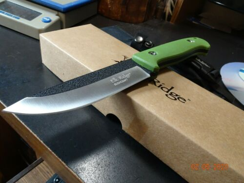 "ELK RIDGE 10 1/2"" O.A. FIXED BLADE KNIFE CUSTOM DESIGN COMPOSITE HANDLE 440 S.S."