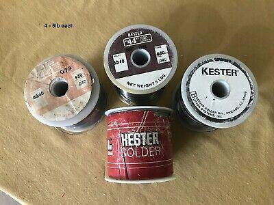 Kester 44 Resin Core Solder .040  4lb In Roll