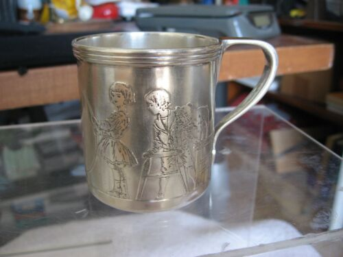 VINTAGE TIFFANY & CO RARE & UNUSUAL STERLING SILVER BABY CHRISTENING CUP
