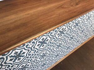 Custom made wooden counter
