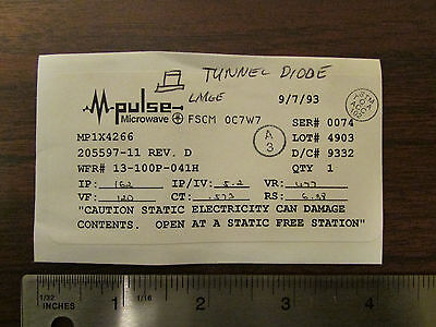 M-pulse Microwave Large Tunnel Diode Mp1x4266 Nos