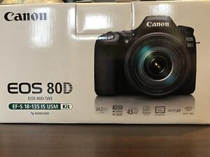 New Canon EOS 80D DSLR Camera with 18-135mm IS USM Lens Kit