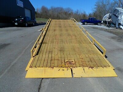 Yard Ramp Yard Dock Trailer Loading Dock Forklift Ramp 30000 Lbs Capacity