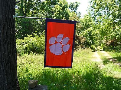 CLEMSON UNIVERSITY HOUSE FLAG EMBROIDERED BY EVERGREEN