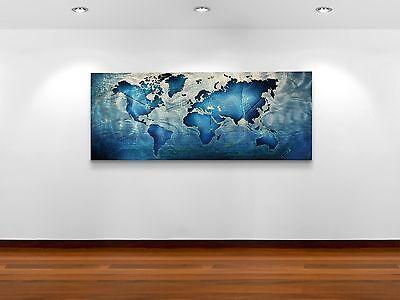 modern map wall art metal abstract wowfactor homeoffice artwork