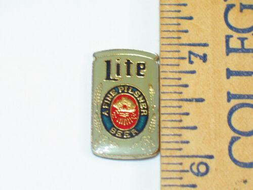 Miller Beer Pin ,  Lite Gray Can Lapel Pin, (**)
