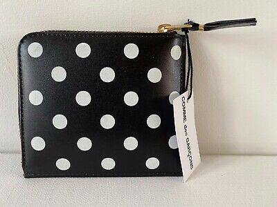 Comme Des Garçons Leather Wallet Model SA3100PD in Black BNIB $130 -40% OFF