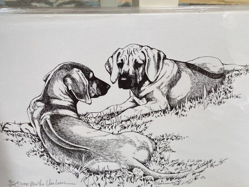 rhodesian ridgeback Puppies 11 X17 Ltd Ed Print