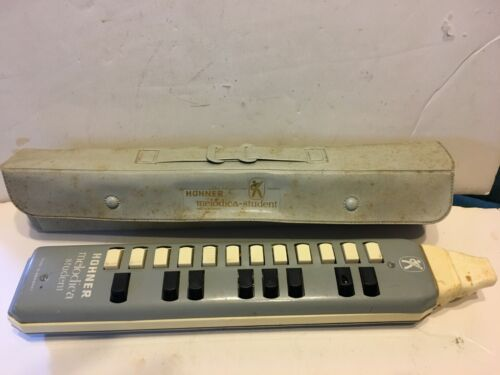 Vintage Harmonica Hohner Melodica Student Made in Germany 20 keys w/soft case