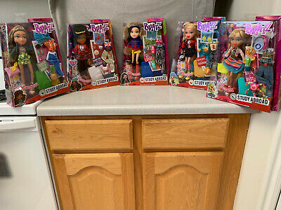 Bratz Study Abroad 5 Dolls Complete Set (Yasmin, Raya, Jade, Sasha, & Cloe) NIB