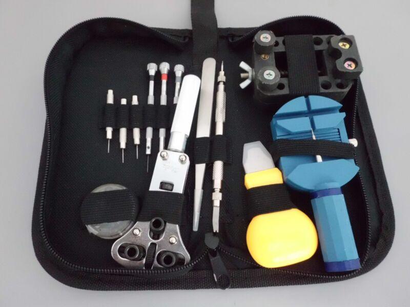 Uhrmacher Reparatur Set Werkzeug Set großes Uhr Werkzeug inkl.Tasche NEU