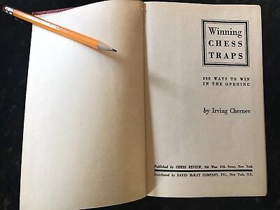 Chess Traps - 1946 Chess Book - Winning Chess Traps - Irving Chernev