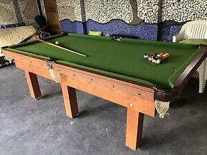 Pool table approx 8.5 x 4.5 feet used Belmore Canterbury Area Preview