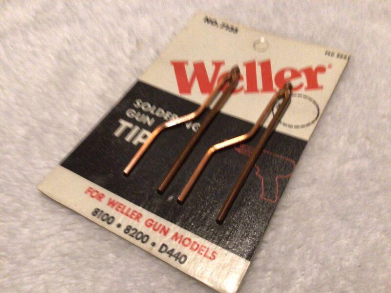 Weller 7135 Soldering Gun Tips (2) Made in USA Copper