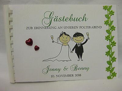 Gästebuch Polterabend Polter Party  Hochzeit Din A5 Einladungskarten