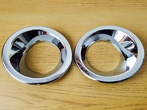 CHROME FOG LIGHT TRIM FOR LAND ROVER DISCOVERY 3 2003-2008 LAMP COVERS