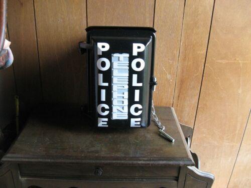 Police Call Box converted to gun safe