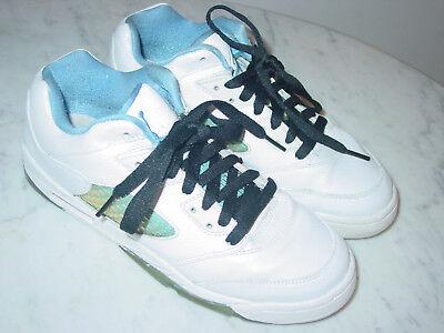 "2006 Nike Air Jordan Retro 5 ""University Blue"" Low Shoes! Size 6Y Sold As Is!"