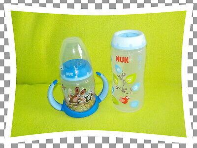 NUK Flaschen Paket SET First Choice   je 1x groß + klein + Griff Maulwurf blau