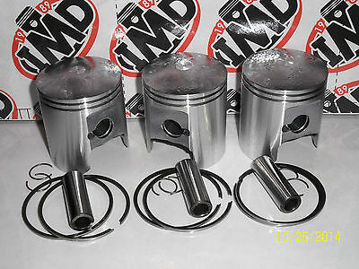 SUZUKI GT380 TRIPLE PISTON KITS (3) NEW PARTS +1.0mm