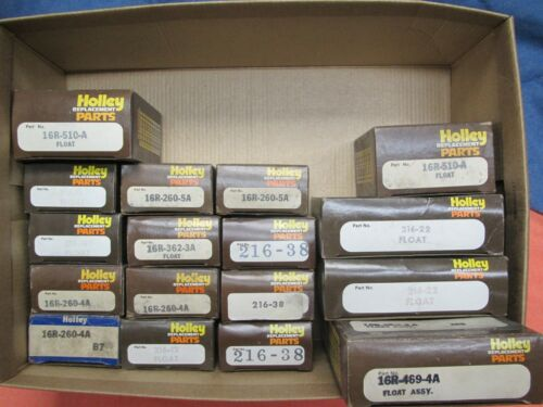 Lot of 17 Vintage Holley Carburetor Floats