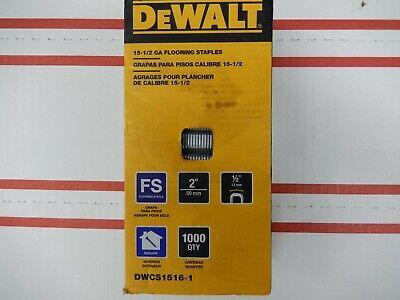 Dewalt 12 In Glue Collated Flooring Staples 1000 Pack Crown Staple Gun Stapler
