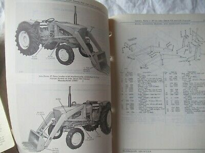 1966 John Deere 37 Farm Loader Parts Catalog Manual Book