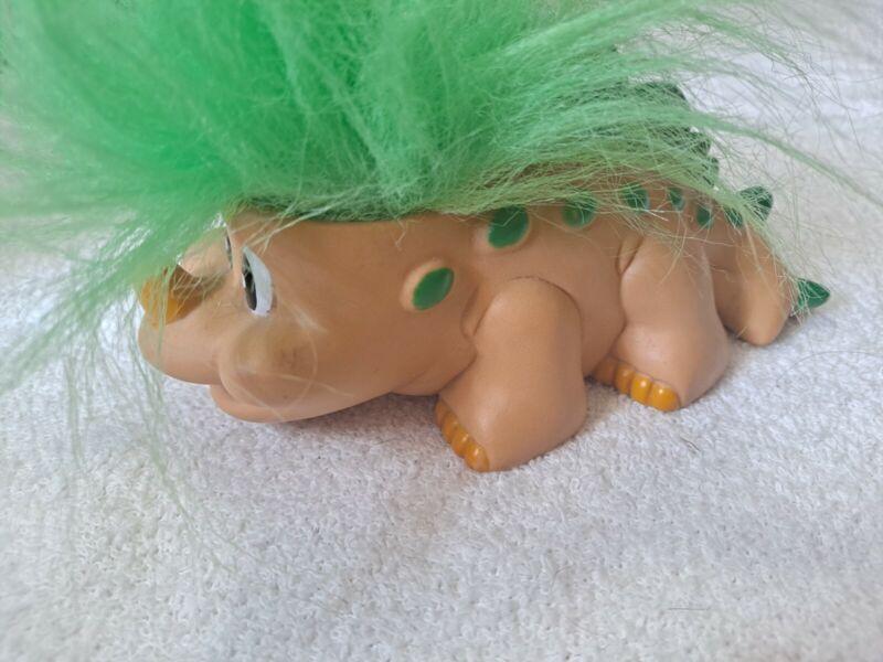 """VINTAGE TRENDMASTERS Dinosaur Troll Doll 3"""" x 6"""" STEGOSAURUS -"""