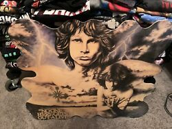 THE DOORS Jim Morrison Novelty Wall Clock Vintage Very Large With Issues